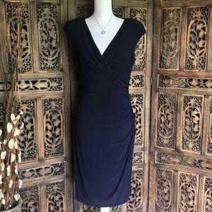 Lauren by Ralph Lauren Nave Blue Dress Sz 8-NWT